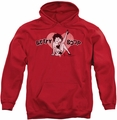 Betty Boop pull-over hoodie Vintage Cutie Pup adult red