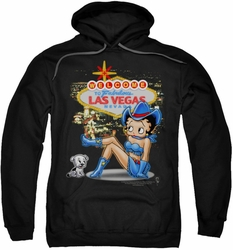 Betty Boop pull-over hoodie Welcome Las Vegas adult black