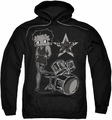 Betty Boop pull-over hoodie With The Band adult black
