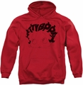 Betty Boop pull-over hoodie Word Hair adult red