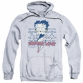 Betty Boop pull-over hoodie Zombie Pinup adult athletic heather