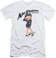 Betty Boop slim-fit t-shirt Air Force Boop mens white