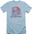 Betty Boop slim-fit t-shirt All American Biker mens light blue