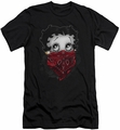Betty Boop slim-fit t-shirt Bandana & Roses mens black