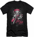 Betty Boop slim-fit t-shirt Biker Babe mens black