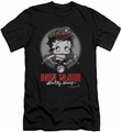 Betty Boop slim-fit t-shirt Born To Ride mens black