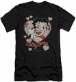 Betty Boop slim-fit t-shirt Classic Kiss mens black