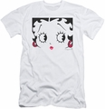 Betty Boop slim-fit t-shirt Close Up mens white