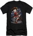 Betty Boop slim-fit t-shirt Country Star mens black