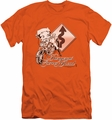 Betty Boop slim-fit t-shirt Dangerous Curves mens orange