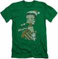 Betty Boop slim-fit t-shirt Define Naughty mens kelly green