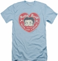 Betty Boop slim-fit t-shirt Fan Club Heart mens light blue
