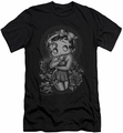 Betty Boop slim-fit t-shirt Fashion Roses mens black