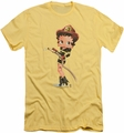 Betty Boop slim-fit t-shirt Firefighter mens banana