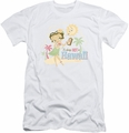 Betty Boop slim-fit t-shirt Hot In Hawaii mens white