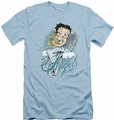 Betty Boop slim-fit t-shirt I Believe In Angels mens light blue