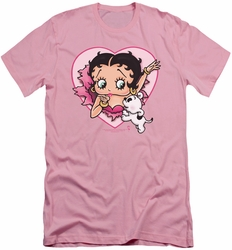 Betty Boop slim-fit t-shirt I Love Betty mens pink