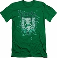 Betty Boop slim-fit t-shirt Lucky Boop mens kelly green