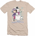 Betty Boop slim-fit t-shirt Melting Hearts mens cream