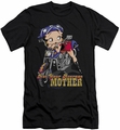 Betty Boop slim-fit t-shirt Not Your Average Mother mens black