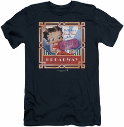 Betty Boop slim-fit t-shirt On Broadway mens navy