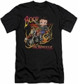 Betty Boop slim-fit t-shirt On Wheels mens black