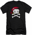 Betty Boop slim-fit t-shirt Pirate mens charcoal