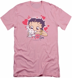 Betty Boop slim-fit t-shirt Puppy Love mens pink