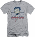 Betty Boop slim-fit t-shirt Zombie Pinup mens athletic heather