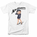 Betty Boop t-shirt Air Force Boop mens white