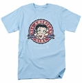 Betty Boop t-shirt All American Girl Logo mens light blue