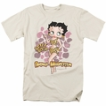 Betty Boop t-shirt Animal Magnetism mens cream