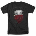 Betty Boop t-shirt Bandana & Roses mens black