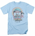 Betty Boop t-shirt Betty'S Trolley mens light blue