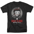 Betty Boop t-shirt Born To Ride mens black