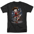 Betty Boop t-shirt Country Star mens black