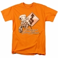 Betty Boop t-shirt Dangerous Curves mens orange