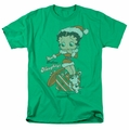 Betty Boop t-shirt Define Naughty mens kelly green