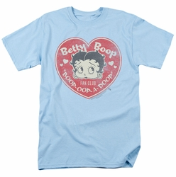 Betty Boop t-shirt Fan Club Heart mens light blue