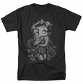 Betty Boop t-shirt Fashion Roses mens black