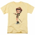 Betty Boop t-shirt Firefighter mens banana