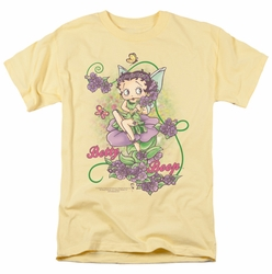 Betty Boop t-shirt Flower Vine Fairy mens banana