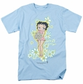 Betty Boop t-shirt Flowers mens light blue