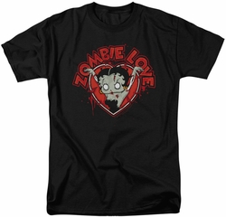 Betty Boop t-shirt Heart You Forever mens black