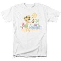 Betty Boop t-shirt Hot In Hawaii mens white