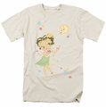 Betty Boop t-shirt Hula Flowers mens cream