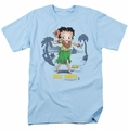 Betty Boop t-shirt Hula Honey mens light blue