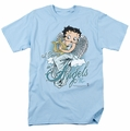 Betty Boop t-shirt I Believe In Angels mens light blue