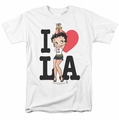 Betty Boop t-shirt I Heart La mens white