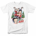 Betty Boop t-shirt I Want It All mens white